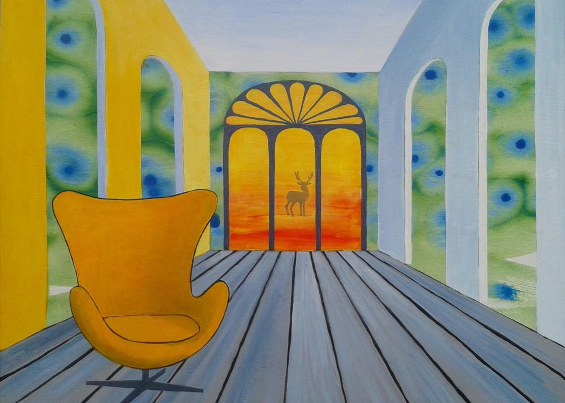 færdigt maleri – Den tomme stol